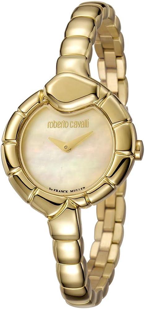Orologio per donna roberto cavalli by franck muller,in acciaio gold, dorato RV1L010M0011