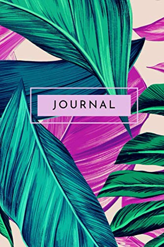 Journal : Pink and Green Monstrea Leaf - 6