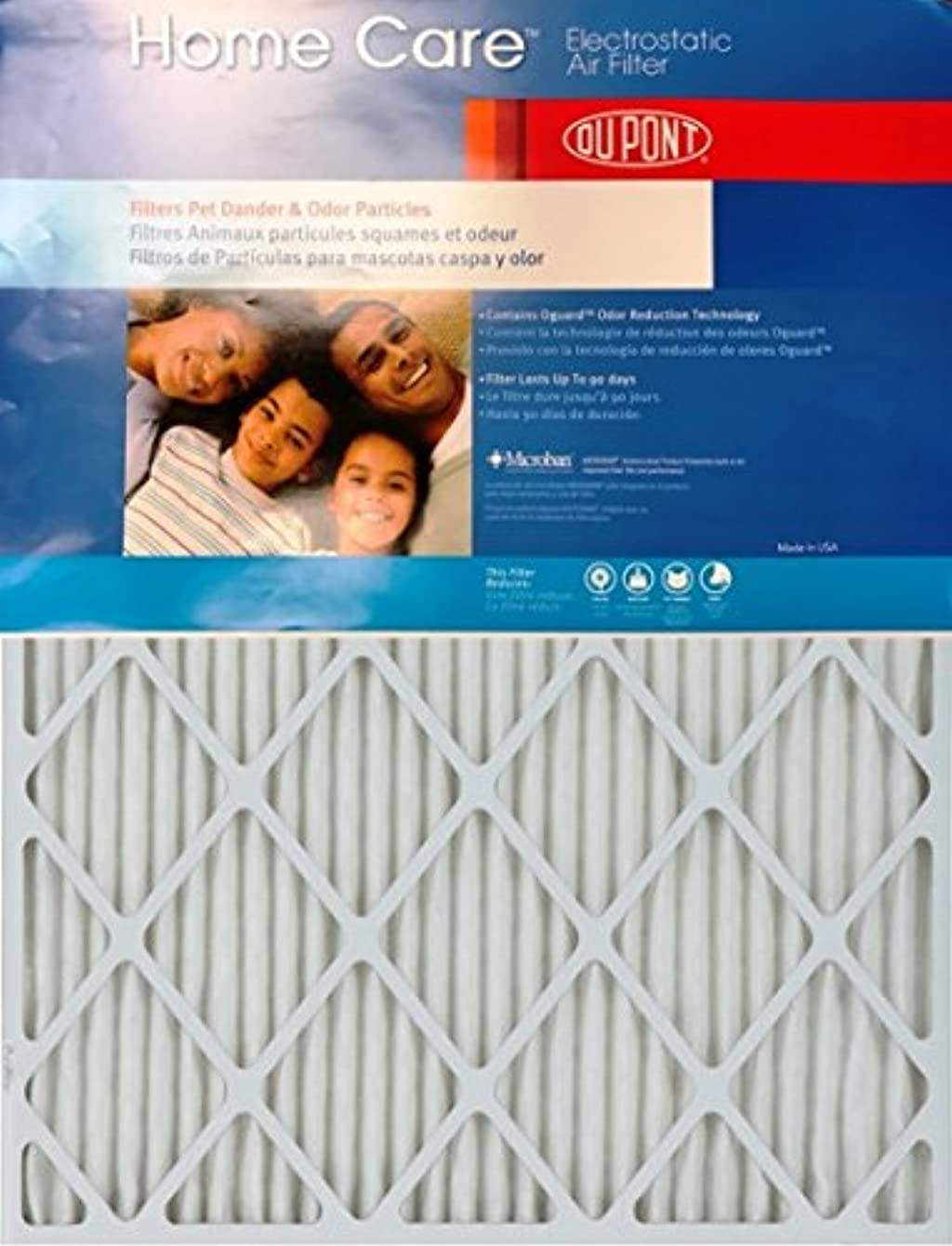 Dupont Home Care 24x30x1 MERV 8 Air Filters (2 Pack)