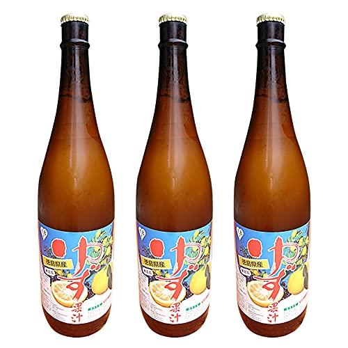 徳島県産ゆず100%天然果汁 ゆず果汁1.8L×3本 夏季は佐那河内農園冷蔵庫よりクール便にて最新果汁を出荷