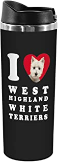 Tree-Free Greetings TT42140 I Heart West Highland White Terriers 18-8 Double Wall Stainless Artful Tumbler, 14-Ounce