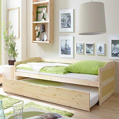 Massivholzbett mit Bettkasten Gästebett Pharao24 - 4