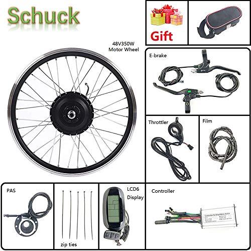 Schuck 36V 500W Kit de conversión de Motor de Bicicleta eléctrica de Rueda Delantera de 20 Pulgadas, Cubo de Bicicleta LCD KT-LCD6