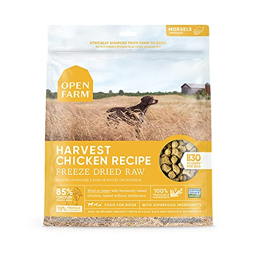 Open Farm Freeze Dried Raw Dog Food, Humanely Raised Meat Recipe with...