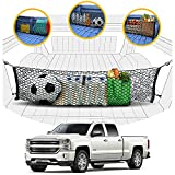 Envelope Style Trunk Mesh Cargo Net - Chevy Silverado Accessories - Premium Trunk Organizers and Storage - Cargo Net for Pickup Truck Bed - Truck Bed Net for Chevy Silverado 2013-2021