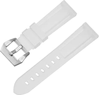 Silicone Replacement Watch Band Rubber Watch Strap Waterproof Watch Belt 22mm 24mm 26mm(White Camouflage)