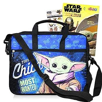 Baby Yoda Tablet Case Star Wars School Supplies Bundle ~ Baby Yoda Messenger Bag With Baby Yoda Stickers And Coloring Book  Star Wars Sling Bag   Baby Yoda Travel Bag