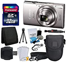 Canon PowerShot ELPH 360 HS Digital Camera (Silver) + Transcend 32GB Memory Card + Camera Case + USB Card Reader + LCD Screen Protectors + Memory Card Wallet + Cleaning Pen + Complete Accessory Bundle