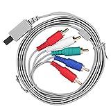 Cuifati Cable AV de 180 cm, Cable componente del Sistema de Consola de Videojuegos, Cable AV de Audio y vídeo componente de Repuesto, para Nintendo Wii