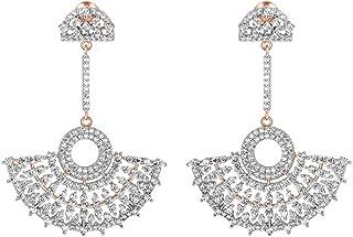 Orecchini pendenti per donne e ragazze in oro 18 carati su argento Sterling