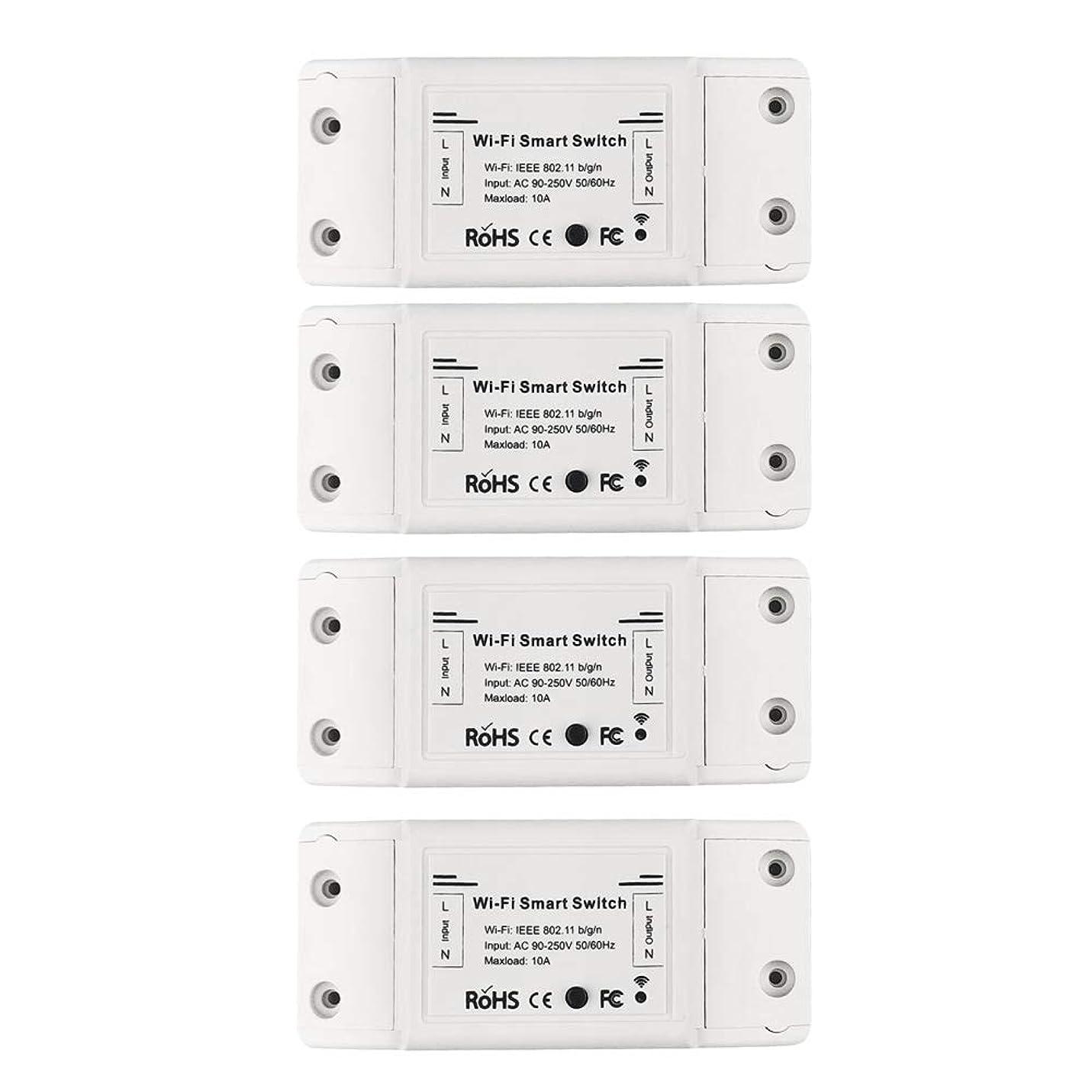 ルー足枷寛容KKmoon WI-FI タイマースイッチ DIYブレーカーモジュール APPリモートコントロール 電気スイッチ