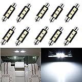 KaTur 10 unids 36mm coche auto interior luz C5W lámpara 3 SMD 5050 LED blanco domo Festoon CANBUS error libre DC12V coche luz fuente bombilla