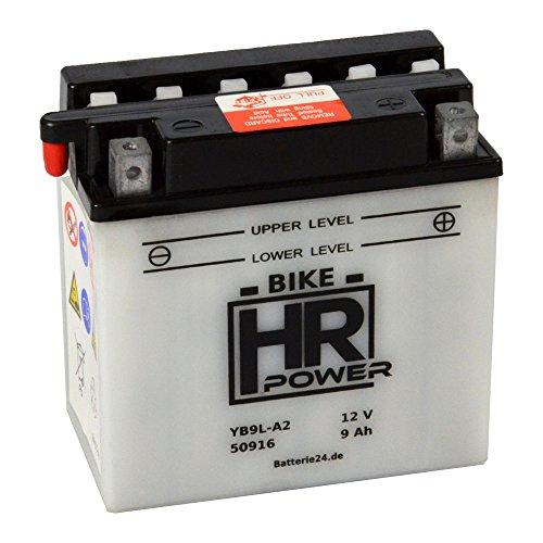 Motorrad Batterie Starterbatterie 12V 9Ah YB9L-A2 50916