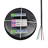 22/4 22 AWG 4 Stranded Pure Copper Conductors Unshielded Security Control Alarm Cable, UL/ETL CMR/CL3R Gray 500ft Speed Bag