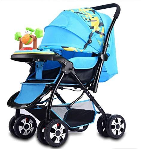 YYLVM Baby Jogger City Cochecito, cochecitos cochecitos de niño del Cochecito de bebé, Bandeja de Música Paraguas del bebé Cochecito de bebé Sillas de Paseo (Color : I, Size : One Size)