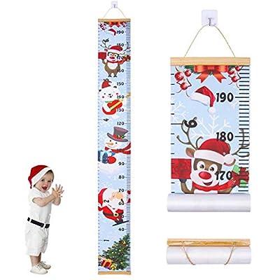JJGoo Christmas Decor, Christmas Wall Decor Room Decor for Kids Baby, Removable Height Measurement Ruler