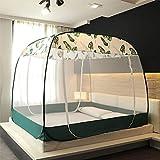CJJC Sommer-Moskitonetz, zusammenklappbare Bettüberdachung mit 2 Öffnungen, Keine Installation erforderlich Natürliches Insektenschutzmittel Ideal für das tägliche Reisen im Schlafzimmer 180x200cm