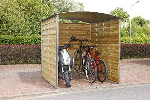 Mottez houten berging voor fietsen
