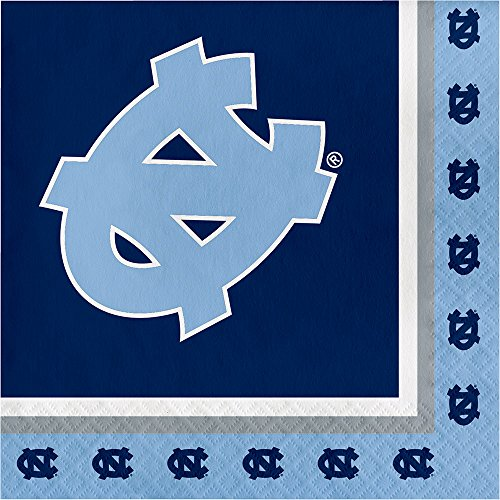 20-Count NCAA Paper Lunch Napkins, North Carolina Tar Heels