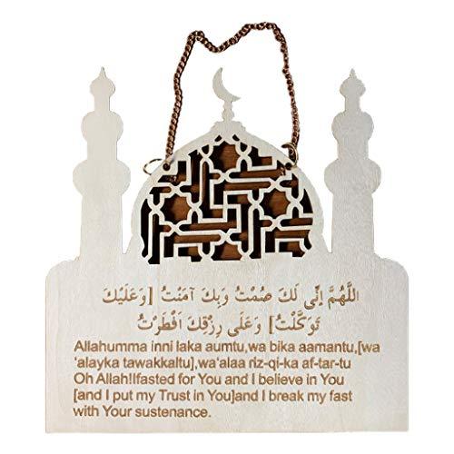 S-TROUBLE Ramadan Eid Mubarak Wooden Pendants Dropping DIY Wreath Garland Party Supplies Moon Eid Wood Hanging Decor Islam Muslim Home Decorations Supplies