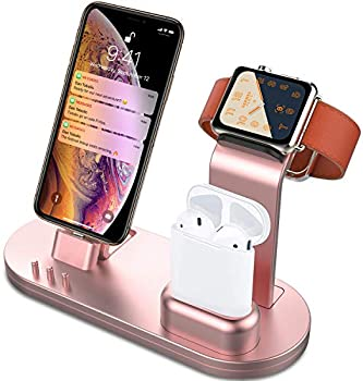 OLEBR 3-in-1 Charging Stand for iPhone, Apple Watch & AirPods