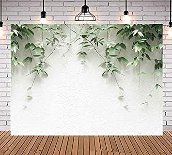 Green Plants Leaves Hanging On White Brick Wall Photography Backdrop 7x5ft Vivid Plants Photo Background Youtube Party Banner New Born Child And Adult Party Decoration Props Wm005 Amazon Ca Camera Photo