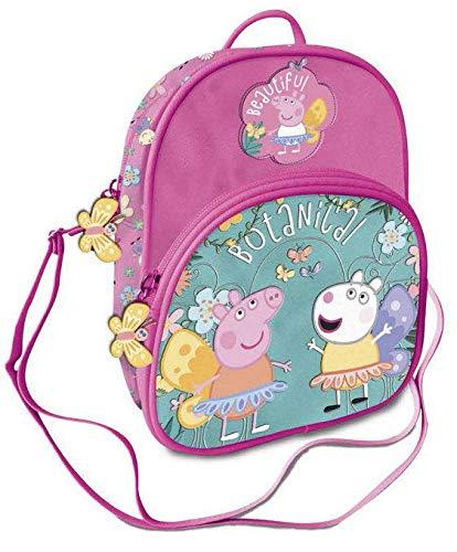 Peppa Pig Bolso Convertible en Mochila pequeña 22cm Botanic Tiempo Libre y Sportwear Infantil, Juventud Unisex, Multicolor (Multicolor), 22 cm