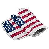 Dataqe - Guantes de cocina con bandera americana, guantes para horno y microondas, guantes de cocina resistentes al calor