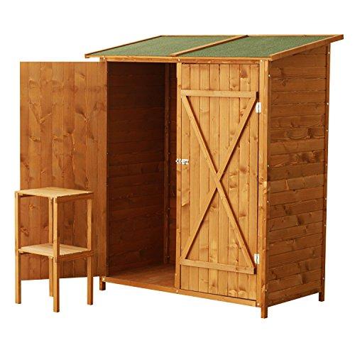 Caseta de madera para jardín Homcom