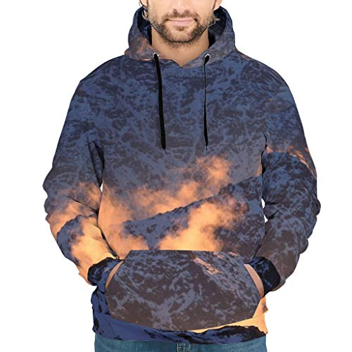 Chanpin Mountain Dusk Landscape Mode Pullover Hoodie mit Pocket Unisex White s
