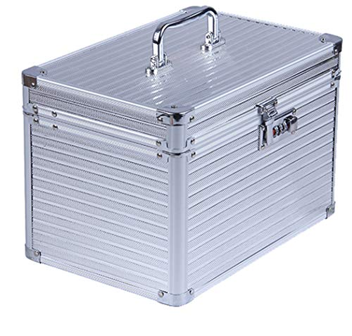 Trucco artista strumenti Portable Storage Box serratura password portatile di grande capacità trucco multi-strato Tattoo Nail box,Silver
