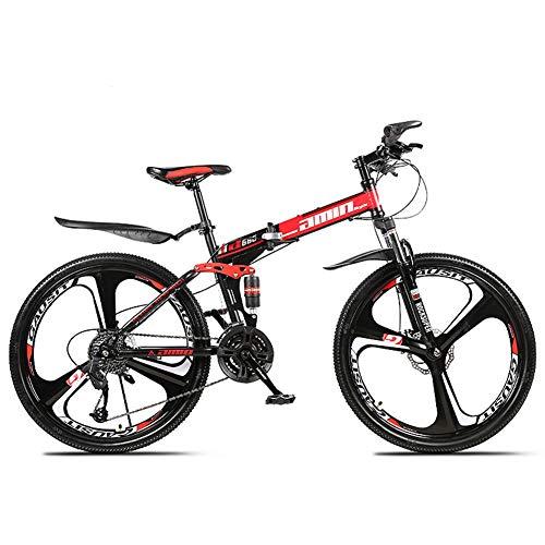 YIWOZA mountain bike 26 inch folding bikes for adults,(3cutter...