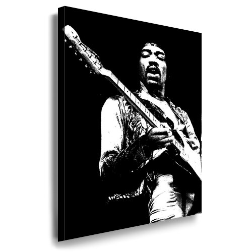 Kunstdruck'Jimi Hendrix' / Bild 100x70cm / Leinwandbild fertig auf Keilrahmen/Leinwandbilder, Wandbilder, Poster, Pop Art Gemälde, Kunst - Deko Bilder