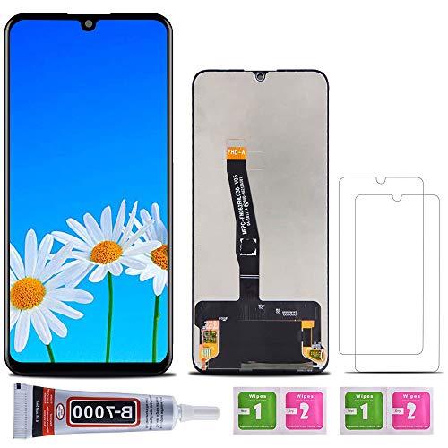 SHANCHU Schermo Huawei P30 Lite, LCD Digitizer + Vetro Touch Assemblato Ricambio con Vetro Temperato [Confezione da 2], B-7000 Colla (Schermo Huawei P30 Lite)
