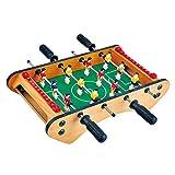 LEAMER - Futbolín de mesa mini, mesa de futbolín, mesa de futbolín, juego para niños con pelota e indicador de nivel