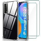 YNMEacc Coque Compatible avec Huawei P Smart 2021, 2 Pièces Verre trempé Protection écran, [AIR...