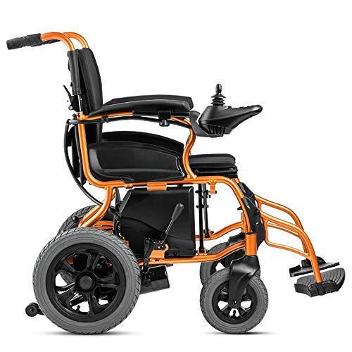 Lichtgewicht Transport rolstoel met Handrem Heavy Duty krachtige dual Motor Foldable Elektrische rolstoelen Gemotoriseerde Elektrische rolstoelen in het vliegtuig