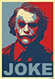 Great Art Red and Blue Poster Heath Ledger mit Schriftzug