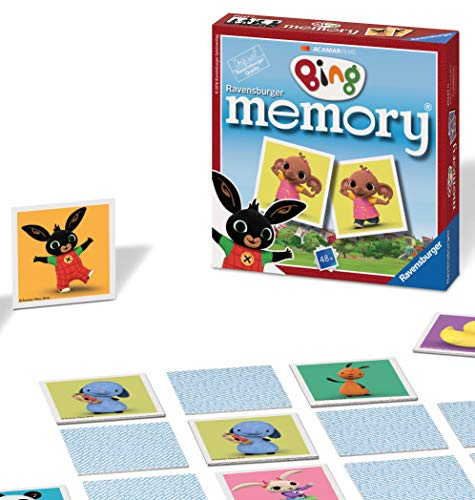 Ravensburger Cbeebies Bing Bunny Mini Memory Matching Picture Snap Pairs Game For Kids Age 3 Years and Up