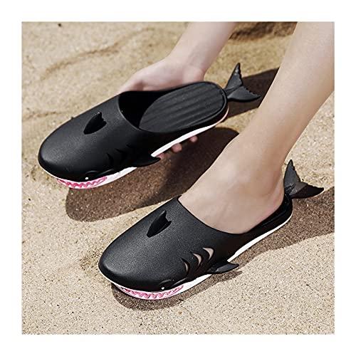 Xu Yuan Jia-Shop Desgaste de la Zapatilla de tiburón Divertido Resitant Slippers de la casa Antideslizante Hombres Adolescentes Slipper para la Fiesta de la Playa al Aire Libre