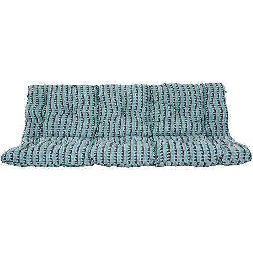 PATIO Hollywoodschaukel Auflage Frigiliana 180 cm Gartenbankauflage Auflage für Gartenschaukel Sitzpolster Rückenkissen Bankkissen Polster gesteppt