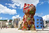 Poster 100 x 70 cm: Welpe von Jeff Koons, Bilbao von Matteo