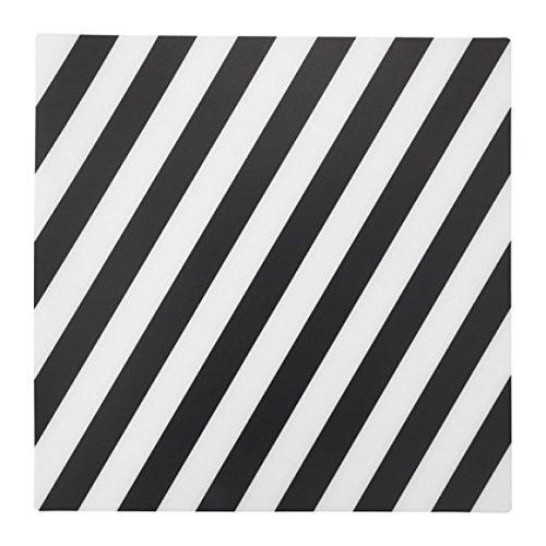 Ikea Pipig - Mantel individual, diseño de rayas, color blanco y negro