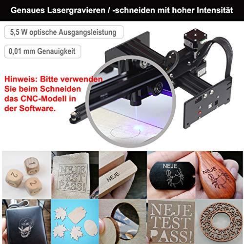 NEJE Master2 20 W Grabado láser Madera Grabado rebanadora Escritorio Grabado portátil DIY Logo Impresora marcador de logos Aplicación Controlador inalámbrico Módulo 5,5 W