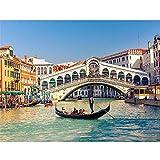 WLWIN Kit Fai-da-Te per Pittura 5D con Strass Paesaggio di Venezia Diamond Painting,Dipint...