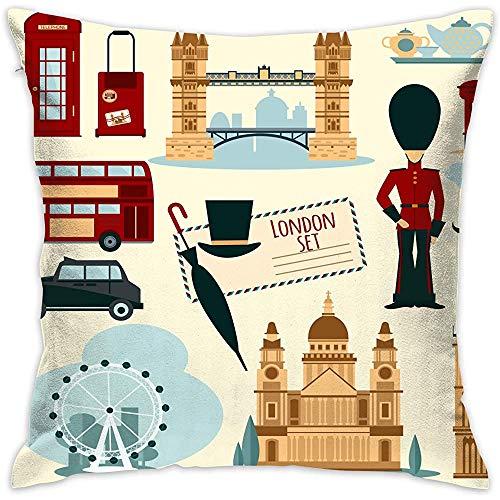 July Decoratieve kussenslopen London Touristic Set kussenslopen kussenslopen voor bank slaapkamer auto stoel