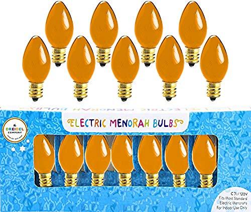 Hanukah: Electric Menorah: Replacement Bulbs, Orange