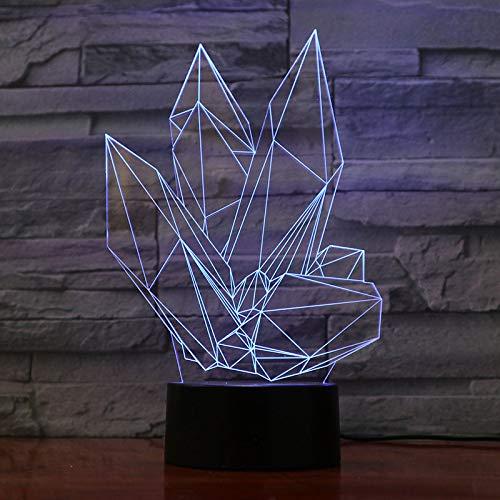 Je t'aime chérie 3D LED Ampoule décoration Romantique 7 Couleurs Brillante Nuit lumière Petite Amie Cadeau fête des mères 5 Pas de contrôleur