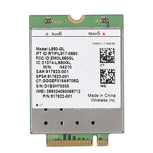 ASHATA 4G LTE-kaartmodule draadloze netwerkadapter, L850-GL LTE 4G-module draadloze LTE-FDD WCDMA-netwerkkaart LTE-FDD/LTE-TDD/WCDMA-WLAN-kaart, NGFF M.2 4G-netwerkkaart voor HP ProBook 440 G5