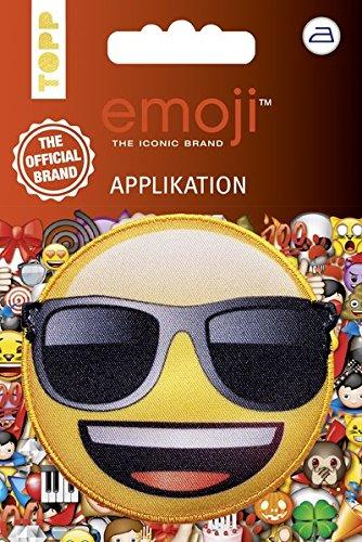 Emoji Applikation Sonnenbrille: Applikation zum Aufbügeln